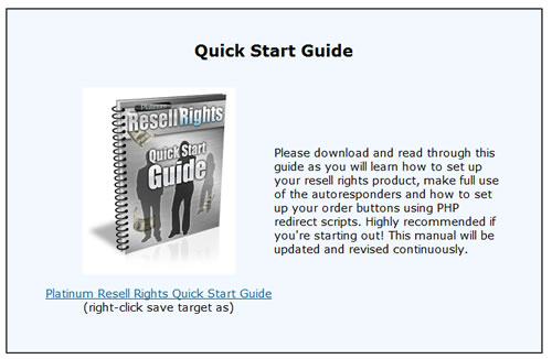 Guide to selling resell rights products