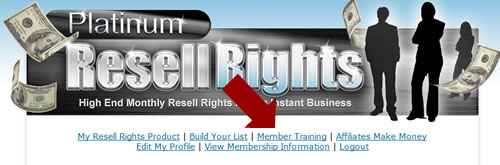 Resale rights training course